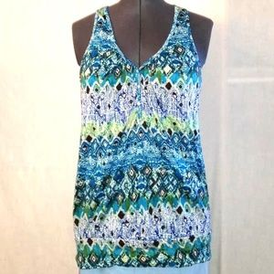 Tank top with crocheted back